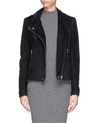 Nobrand Jay Suede Lamb Leather Biker Jacket
