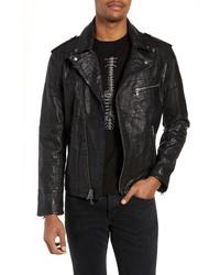 John Varvatos Star USA Patchwork Leather Jacket