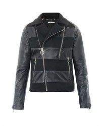Paul Smith Leather And Mesh Biker Jacket