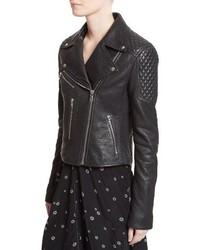Proenza Schouler Pebbled Leather Moto Jacket