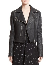 Pebbled leather moto jacket medium 3993363