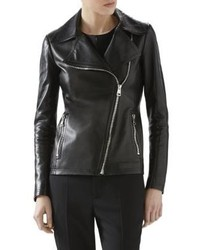 Gucci Plonge Leather Moto Jacket