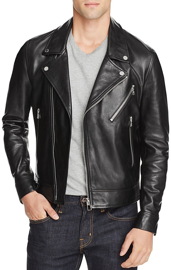 Paul Smith Ps Leather Biker Jacket