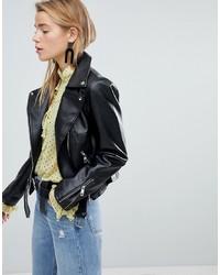 New Look Pu Biker Jacket