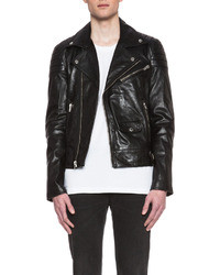 BLK DNM Quilted Leather Motorcycle Jacket