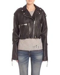 R 13 R13 Sac Leather Moto Jacket