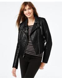 Rachel Roy Rachel Faux Leather Cropped Moto Jacket