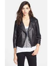 Rebecca Minkoff Wes Leather Moto Jacket Medium