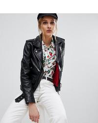 Reclaimed Vintage Revived Leather Biker Jacket
