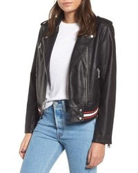Levi's Rib Knit Faux Leather Moto Jacket