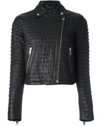 Diesel Ribbed Texture Biker Jacket
