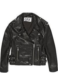 OAK Rider Leather Biker Jacket