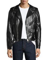 Valentino Rockstud Leather Moto Jacket