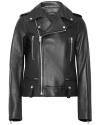 Joseph Ryder Leather Biker Jacket Black