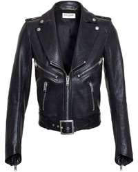 Saint Laurent Grained Leather Biker Jacket