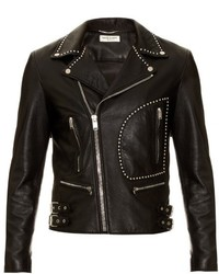 Saint Laurent Studded Leather Biker Jacket