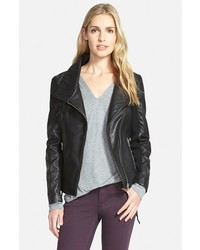 Sam Edelman Lace Up Leather Moto Jacket