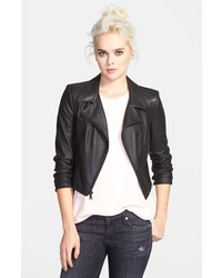 Sam Edelman Perforated Faux Leather Moto Jacket
