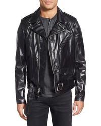 Schott NYC Perfecto Slim Fit Waxy Leather Moto Jacket