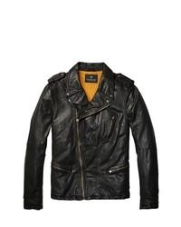 Scotch & Soda Scotch And Soda Rocker Leather Jacket