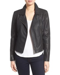 Cupcakes And Cashmere Sid Faux Leather Moto Jacket