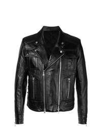 Balmain Slim Fitted Leather Jacket