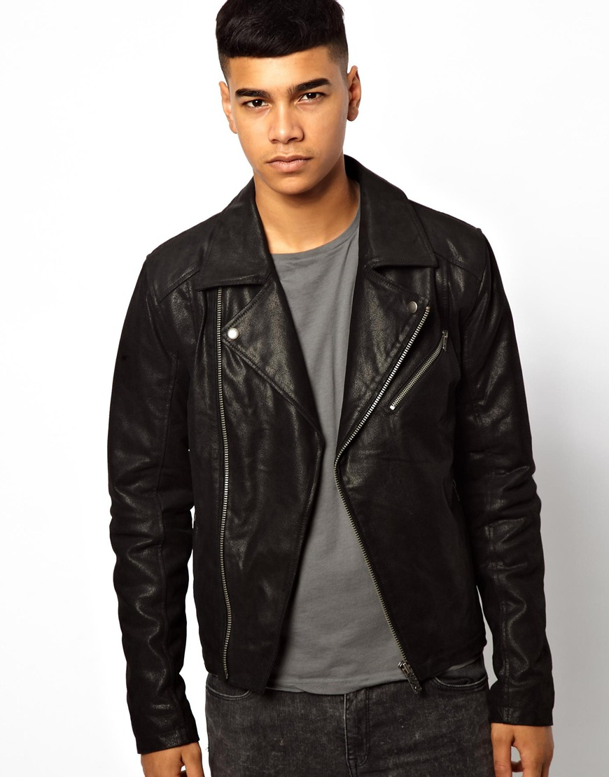 Solid Leather Biker Jacket | Where to buy &amp how to wear
