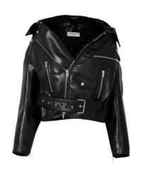 Balenciaga Swing Oversized Leather Biker Jacket