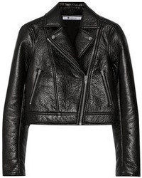 Alexander Wang T By Bonded Textured Leather Biker Jacket