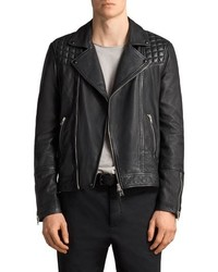 AllSaints Taro Slim Fit Leather Biker Jacket