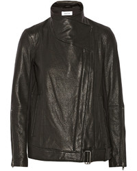 Helmut Lang Textured Leather Biker Jacket