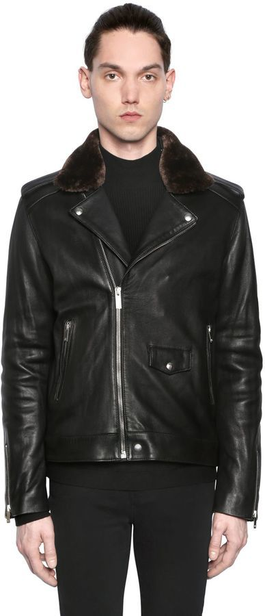 The Kooples Nappa Leather Biker Jacket W Faux Fur | Where to buy ...