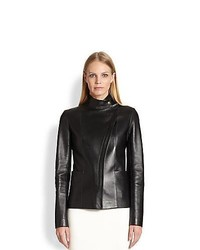 The Row Jacton Leather Jacket Black