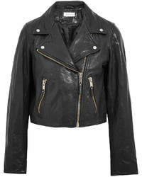 Etoile Isabel Marant Toile Isabel Marant Barry Washed Leather Biker Jacket Black