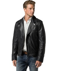 465ee5d6e Men's Leather Jackets by Tommy Hilfiger | Men's Fashion | Lookastic.com