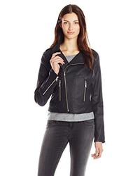 True Religion Moto Jacket In Coated Black
