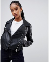 ASOS DESIGN Ultimate Leather Look Biker Jacket