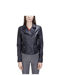 United Face Washed Leather Biker Jacket