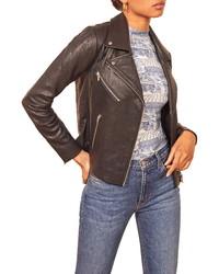 Reformation Veda Bad Leather Jacket