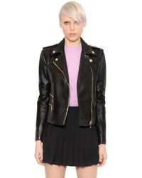 Versace Lambskin Nappa Leather Biker Jacket