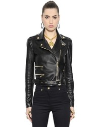 Versace Nappa Leather Moto Jacket