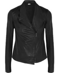 Vince Leather Biker Jacket Black