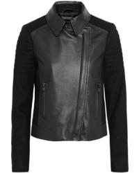 Vince Paneled Leather Biker Jacket
