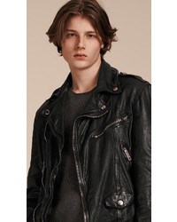 Burberry Washed Lambskin Biker Jacket