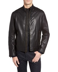 Washed leather moto jacket medium 1247793