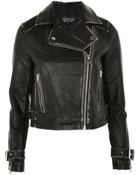 Topshop Washed Pu Biker Jacket