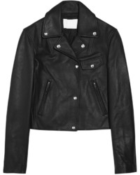 Alexander Wang Waxed Leather Biker Jacket