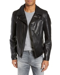 Schott NYC Waxy Cowhide Leather Moto Jacket