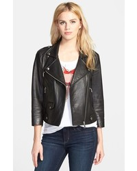 Rebecca Minkoff Wes Neoprene Panel Moto Jacket
