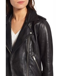 Andrew Marc Wesley Washed Leather Biker Jacket